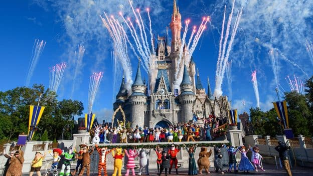 Mickey Mouse Marks Milestone With 90-Character Gathering at Magic Kingdom Park