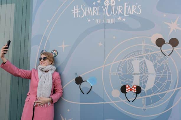 #ShareYourEars wall at Disneyland Paris Park
