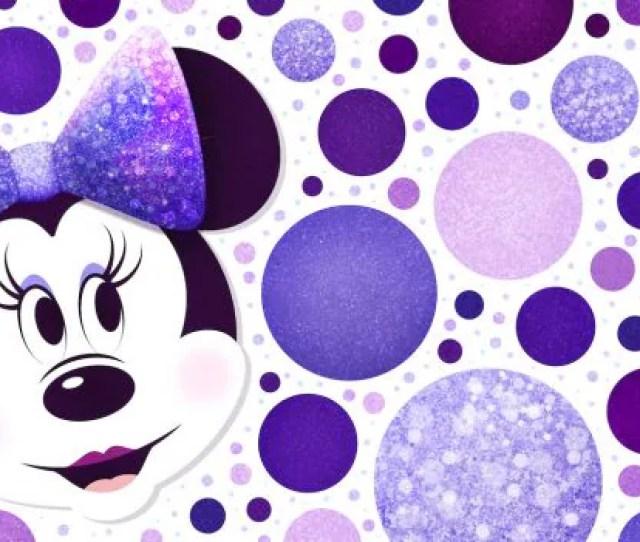 Minnie Mouse Purple Polka Dots Wallpaper