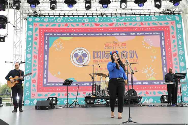 live music at the International Food & Drink Fest at Shanghai Disney Resort