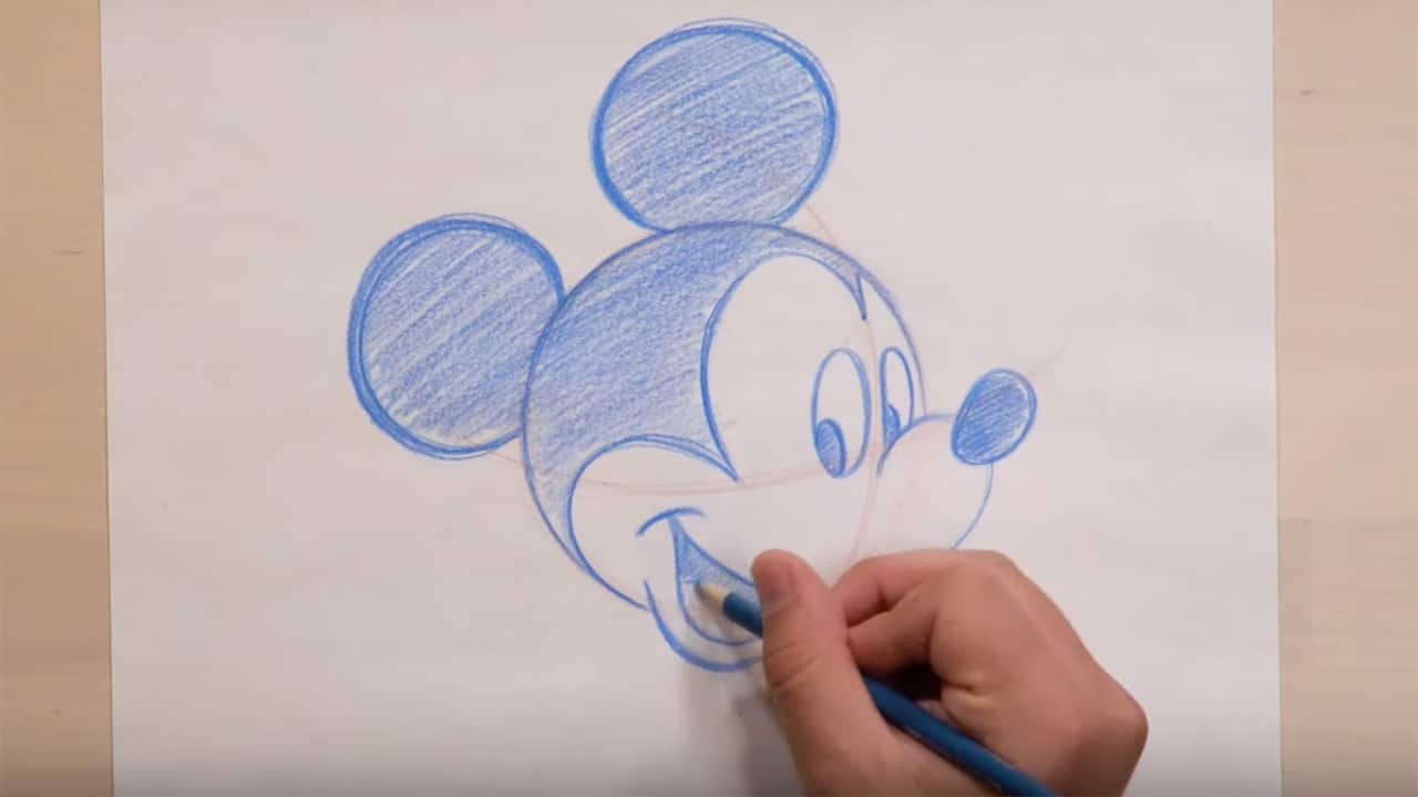 learn to draw mickey