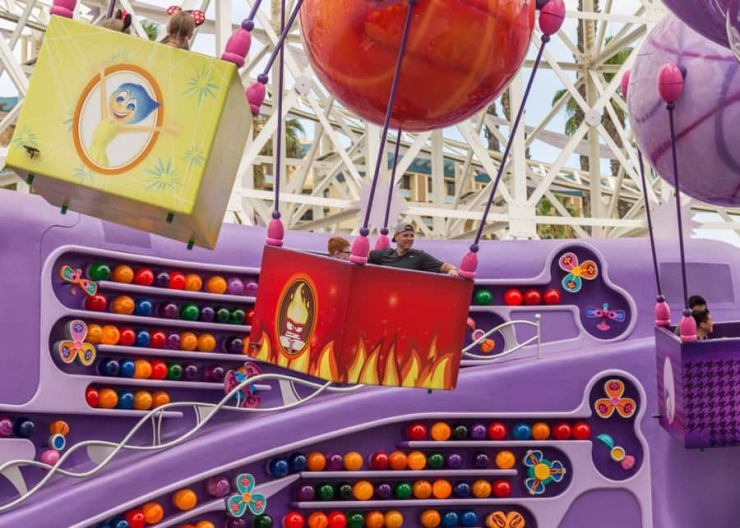 Inside Out Emotional Whirlwind at Pixar Pier in Disney California Adventure Park