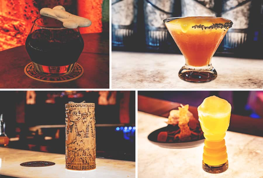 Specialty Beverages with Alcohol from Oga's Cantina at Star Wars: Galaxy's Edge