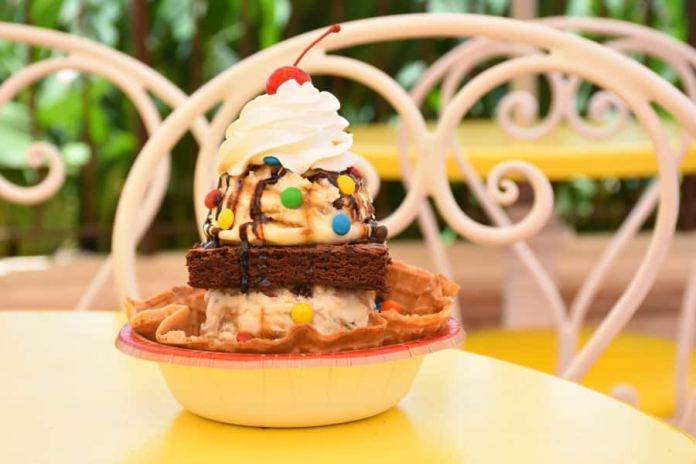 Monster Brownie Sundae from Plaza Ice Cream Parlor at Magic Kingdom Park