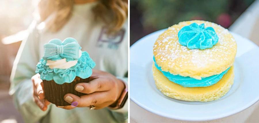 Arendelle Aqua Cupcake and Victoria Sponge Cake at Epcot