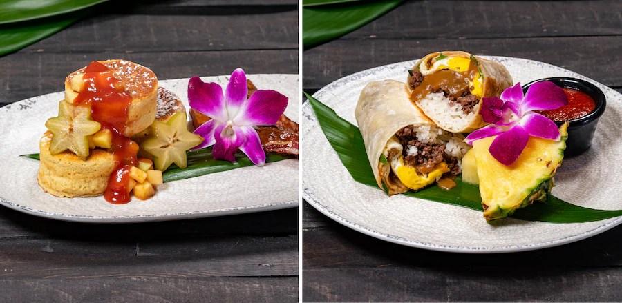 Breakfast Offerings from Tangaroa Terrace Tropical Bar & Grill at the Disneyland Hotel