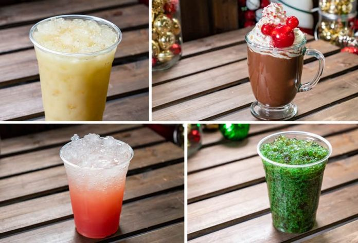 Collage of Hollywood Lounge Offerings for Holidays 2019 at Disney California Adventure Park