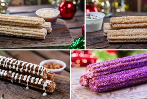 Collage of Holiday Churros for Holidays 2019 at Disneyland Park