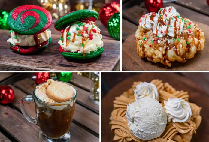 Collage of Frontierland Offerings for Holidays 2019 at Disneyland Park