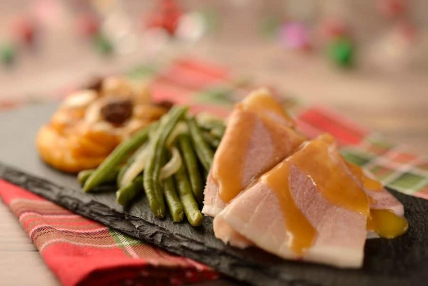 Hand-carved Smoked Ham from the American Holiday Table Holiday Kitchen for the 2019 Epcot International Festival of the Holidays