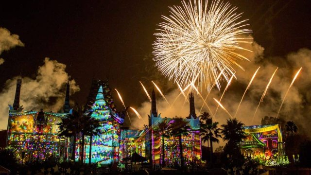 """""""Jingle Bell, Jingle BAM!"""" holiday fireworks show from Disney's Hollywood Studios"""