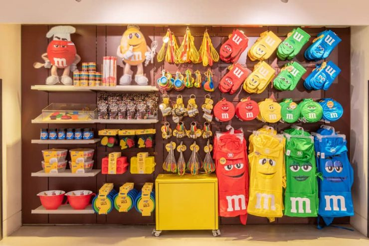 Merchandise at M&M'S Store