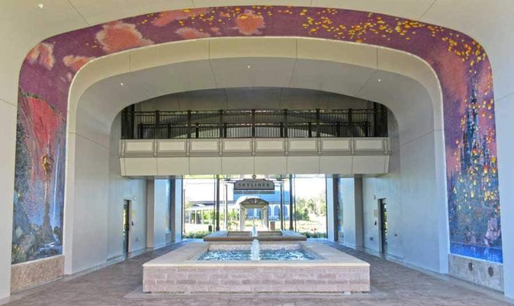 "Mosaic at Disney's Riviera Resort depicting Rapunzel's floating lantern scene from ""Tangled"""