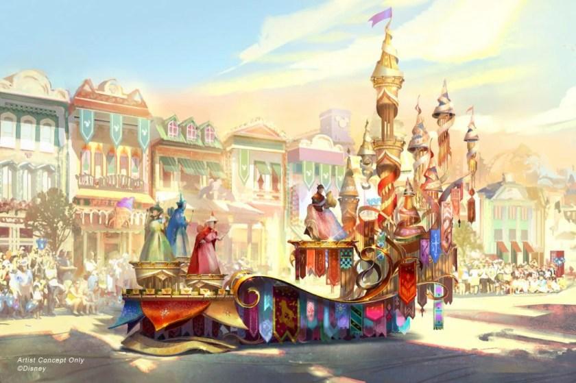 Magia sucede desfile en Disneyland