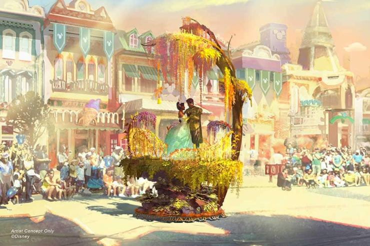 The Princess and the Frog float