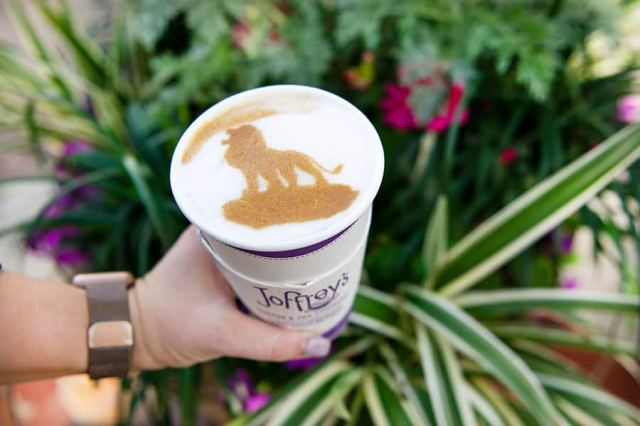 Joffrey's Coffee and Tea at Disney Springs Lion's Latte