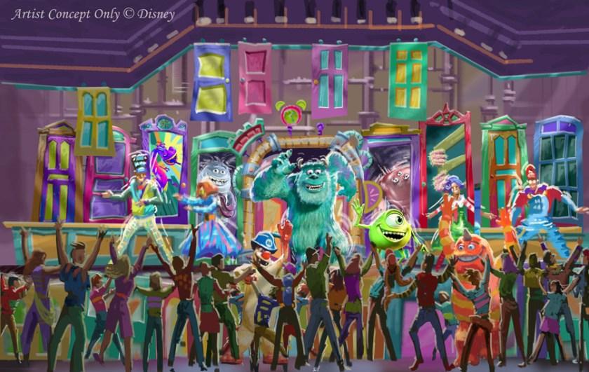 Representación de la fiesta de baile de Monsters, Inc.