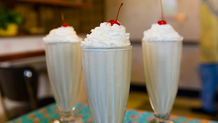 Peanut Butter & Jelly Milk Shake from 50's Prime Time Café