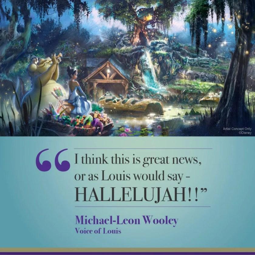 """""""Creo que esta es una gran noticia, o como diría Louis: ¡HALLELUJAH!""""  - Michael-Leon Wooley"""