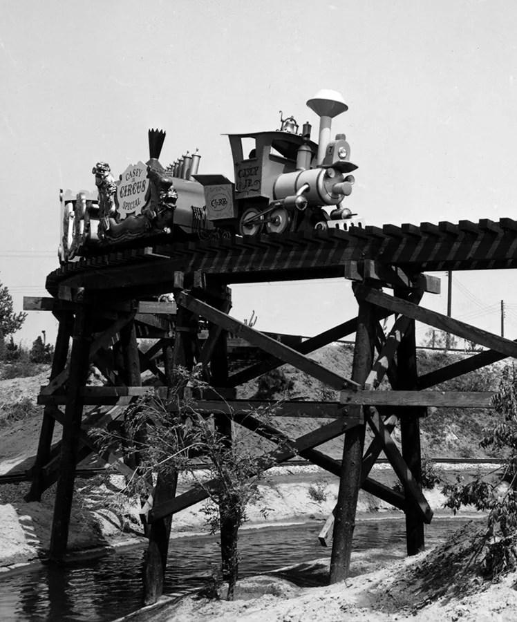 Casey Jr. Circo tren, circa 1955