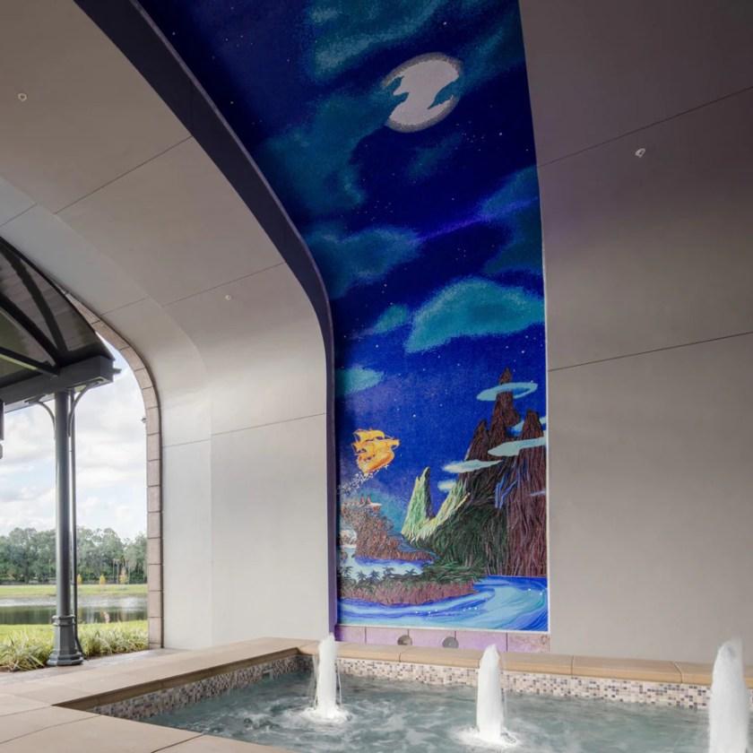 """Mural de mosaico con el tema """"Peter Pan"""""""