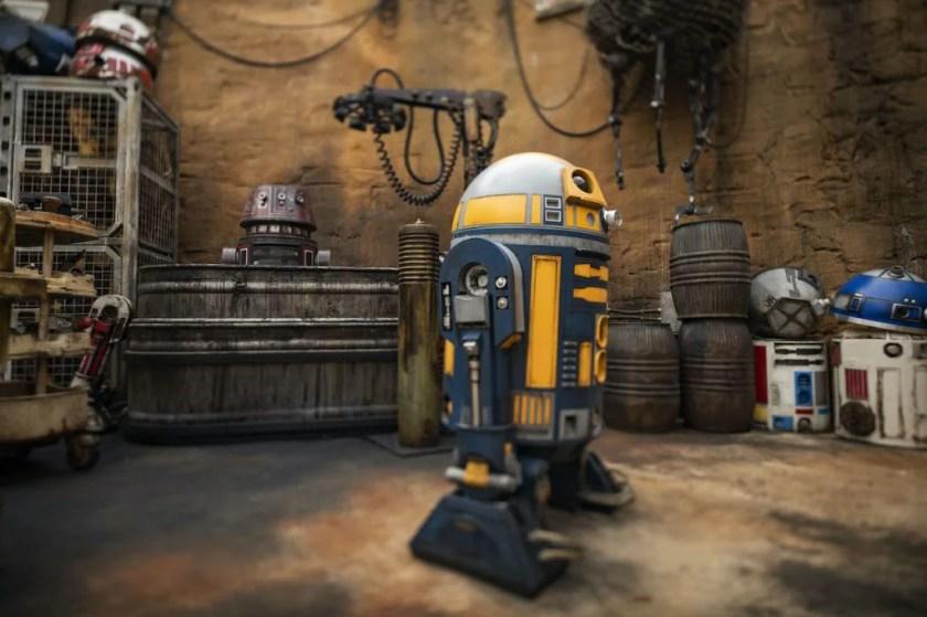 Un droide en Star Wars: Galaxy's Edge en Disney's Hollywood Studios