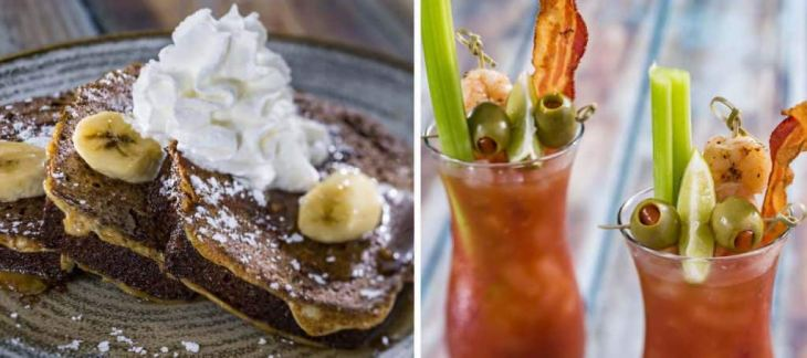 Collage of breakfast items from Olivia's Café