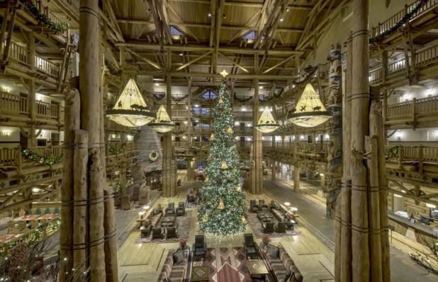 Holiday decorations at Disney's Jungle Lodge