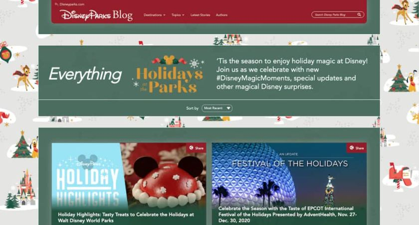 Nueva página 'Vacaciones en Disney' en el Blog de Parques de Disney