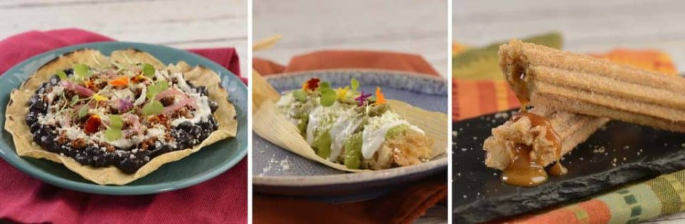 Offerings from Las Posadas Holiday Kitchen at the 2020 Taste of Epcot International Festival of the Holidays