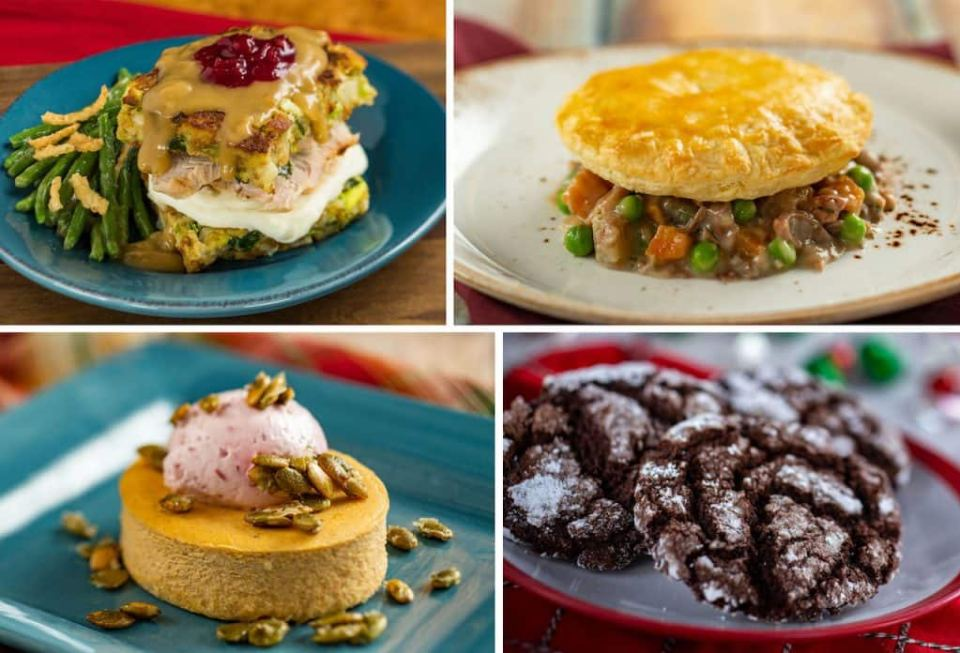 Offerings from American Holiday Kitchen at the 2020 Taste of Epcot International Festival of the Holidays