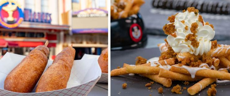 Original Corn Dog and Carrot Cake Funnel Fries