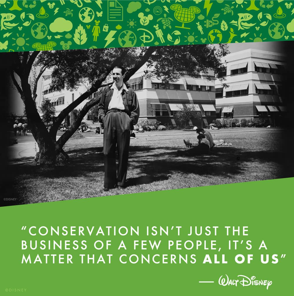 "Walt Disney Quote - ""Conservation isn't just the business of a few people – it's a matter that concerns all of us."""
