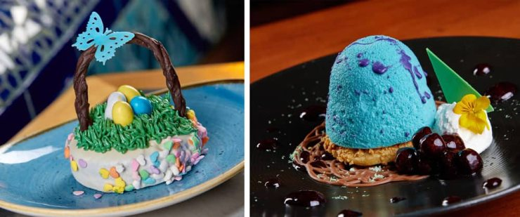 Easter Brookie Basket available at Coral Reef Restaurant, EPCOT. Key Lime Robin Egg available at Le Cellier Steakhouse, EPCOT.