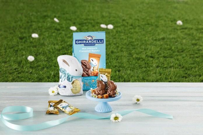 Ghirardelli Milk Chocolate Bunny and Mini Milk Chocolate Caramel Bunnies available at Ghirardelli Soda Fountain & Chocolate Shop, Disney Springs
