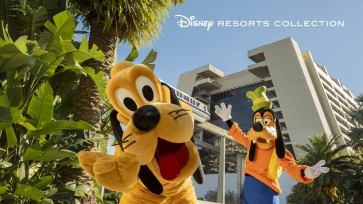 Disney Resort Collection graphic with Pluto and Goofy