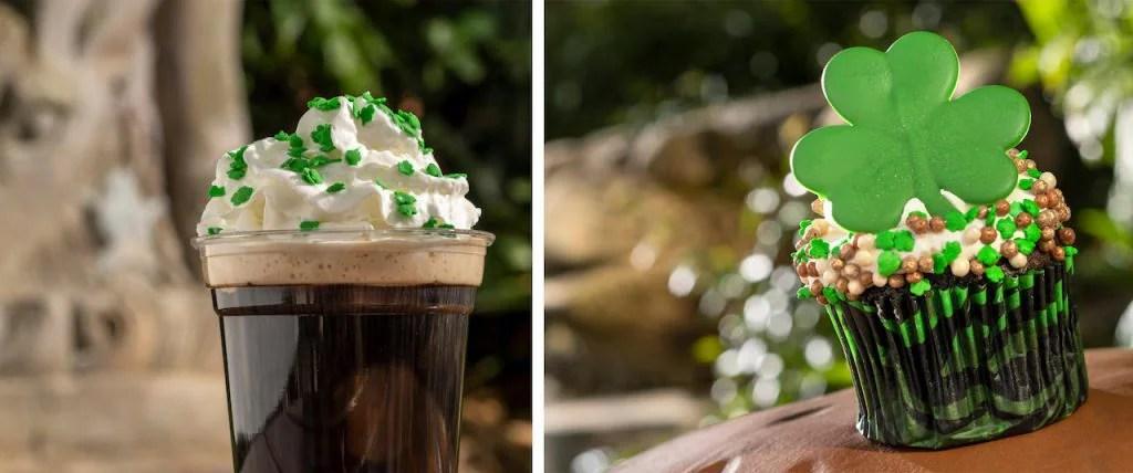 Irish Coffee and St. Patrick's Day Cupcake from Disney's Animal Kingdom