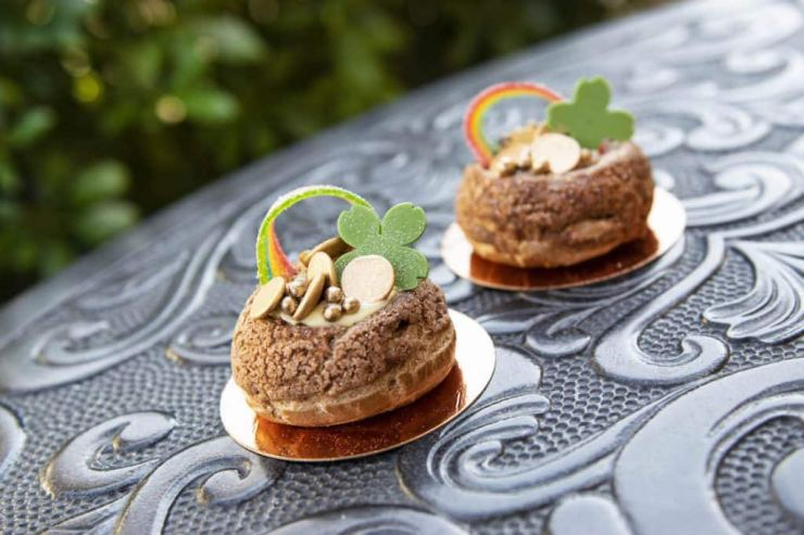 Shamrock Cream Puff from Amorette's Patisserie at Disney Springs