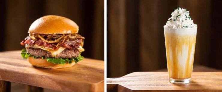 Dubliner Burger and Irish Cream Milkshake from D-Luxe Burger at Disney Springs