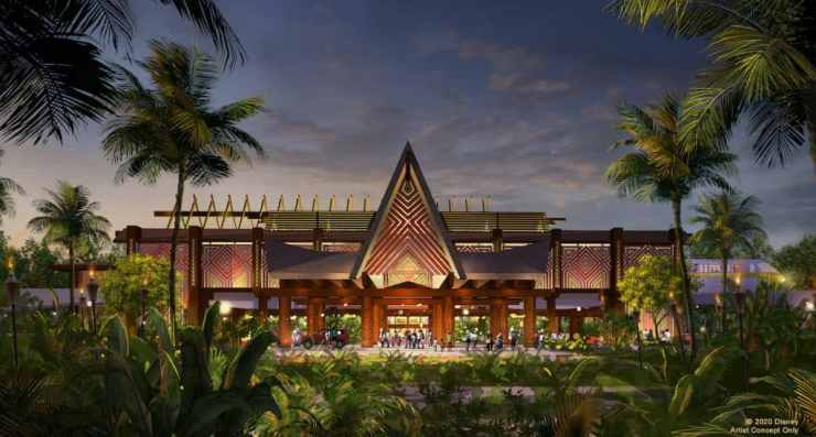 Rendering of the new entrance to Disney's Polynesian Village Resort