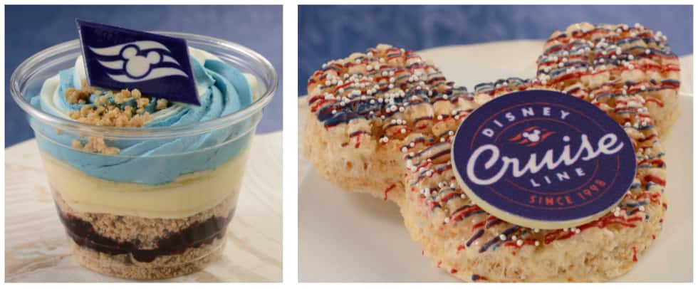 Collage of Disney Cruise Line treats available at The Market at Ale & Compass