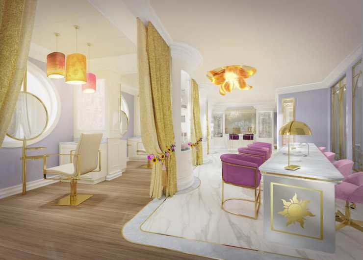 Rendering of Untangled Salon coming to the Disney Wish