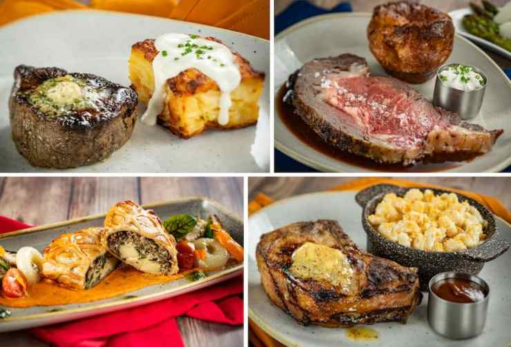 Dinner items from Steakhouse 71, Opening Soon at Disney's Contemporary Resort