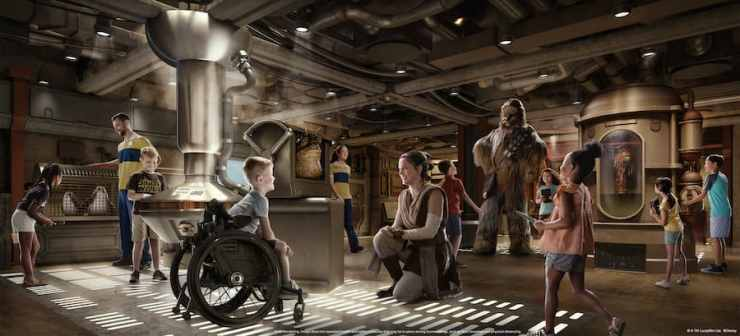 Rendering of Star Wars: Cargo Bay coming to the Disney Wish