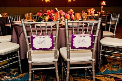 mr and mrs chair signs wedding cover hire burton on trent trend watch disney weddings
