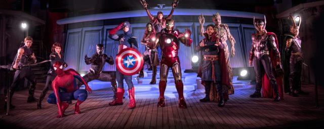 Hawkeye, Black Widow, Captain America, Iron Man, Star-Lord, Groot, Gamora, Thor, Doctor Strange, Black Panther and Spiderman