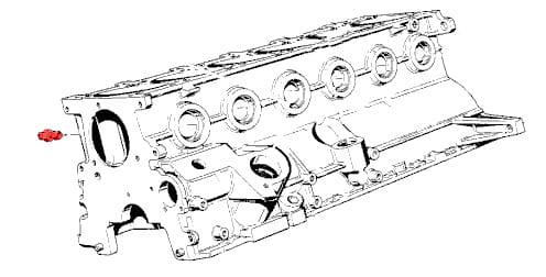 Oil Filter/Filter Adapter Threaded Connector 11112140435