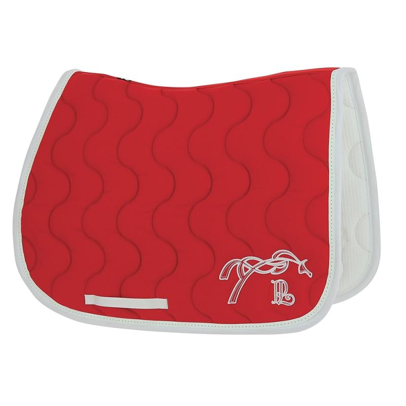 tapis de selle point sellier classique rouge blanc