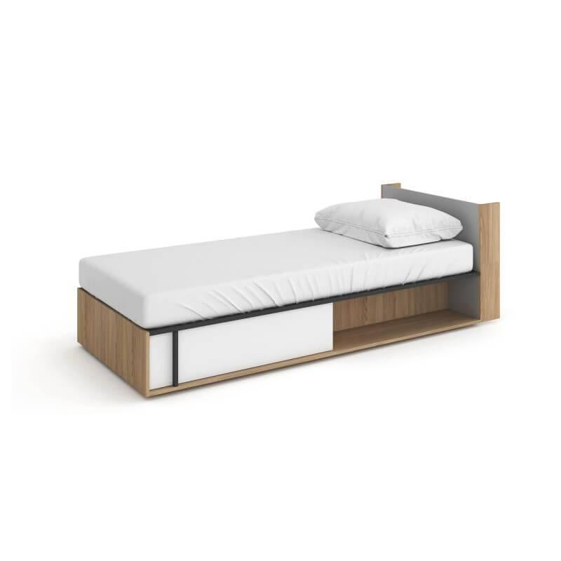 lit ado 200x90 imola avec coffre de rangement pour chambre adolescent