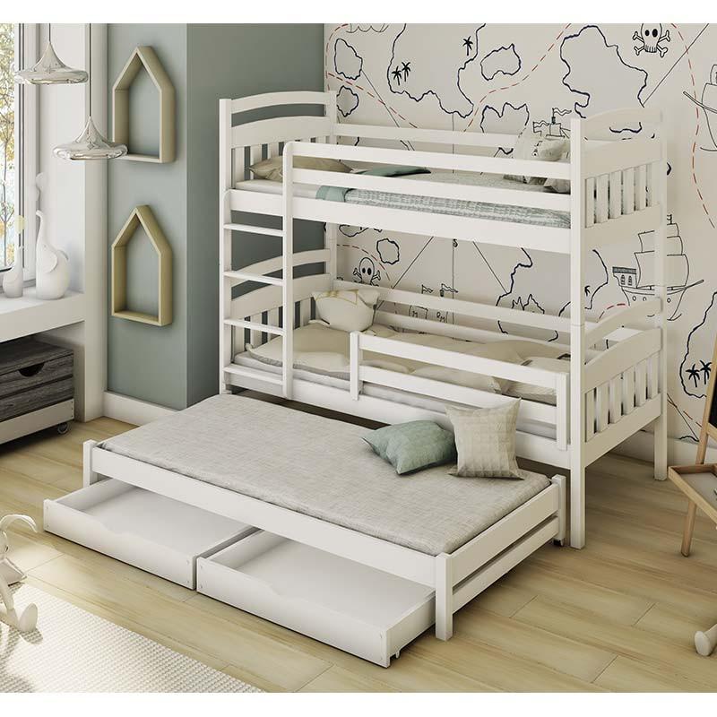 lit superpose alan 3 couchages pour chambre enfant personnalisable